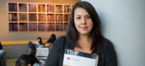 Jessica Boon is one of 17 UBC students receiving a tuition waiver. Photo: Don Erhardt.