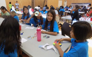 Musqueam youth learn about light and colour at a Geering Up camp. Photo: Geering Up