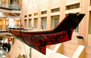 Haida canoe installed at UBC