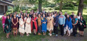 Aboriginal grads at the First Nations House of Learning's Graduation Celebration 2017