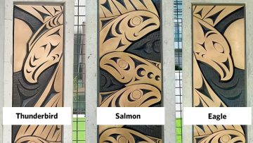 Musqueam art installation on campus