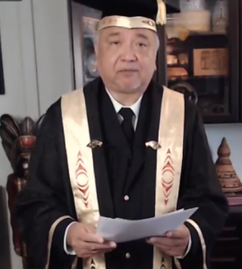The Honourable Steven Point (xwĕ lī qwĕl tĕl), UBC's 19th Chancellor.  Photo: Screenshot